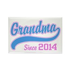Grandma Since 2014 Rectangle Magnet