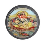 Ganesh Seated on Cushion Wall Clock