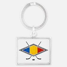 Romanian Ice Hockey Flag Keychains
