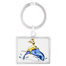 Yellow Lab Dolphin Keychains