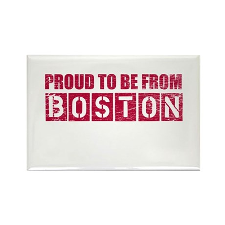 Proud to be from Boston Rectangle Magnet
