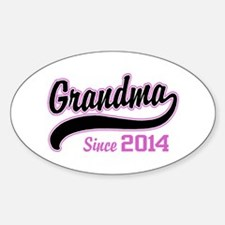 Grandma Since 2014 Sticker (Oval)