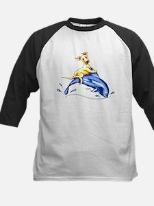 Yellow Lab Dolphin Baseball Jersey