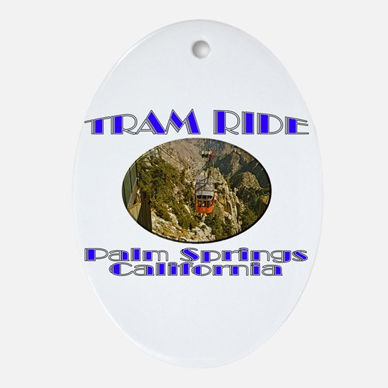 Palm Springs Tram Ride Ornament (Oval)