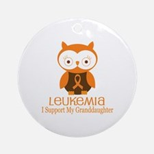 Granddaughter Leukemia Support Ornament (Round)