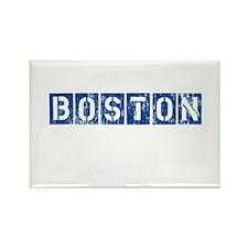 Distressed Boston Rectangle Magnet