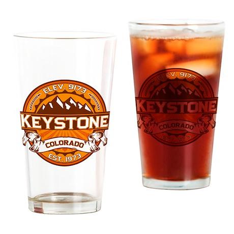 Keystone Tangerine Drinking Glass