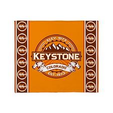 Keystone Tangerine Throw Blanket