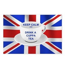 Keep Calm and Drink a Cuppa Tea Postcards (Package