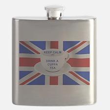 Keep Calm and Drink a Cuppa Tea Flask
