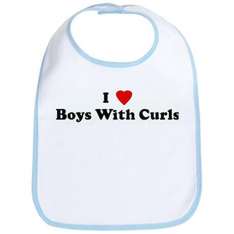I Love Boys With Curls Bib