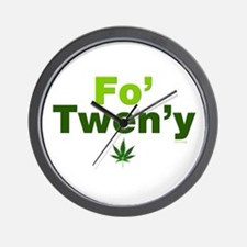 fo-tweny-green-on-white.png Wall Clock
