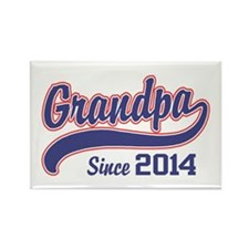 Grandpa Since 2014 Rectangle Magnet