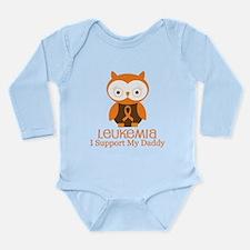 Daddy Leukemia Support Long Sleeve Infant Bodysuit