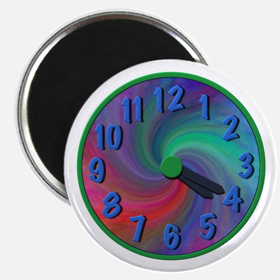 Abstract spiral 4:20 clock, gifts Magnet