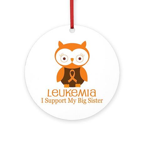 Big Sister Leukemia Support Ornament (Round)