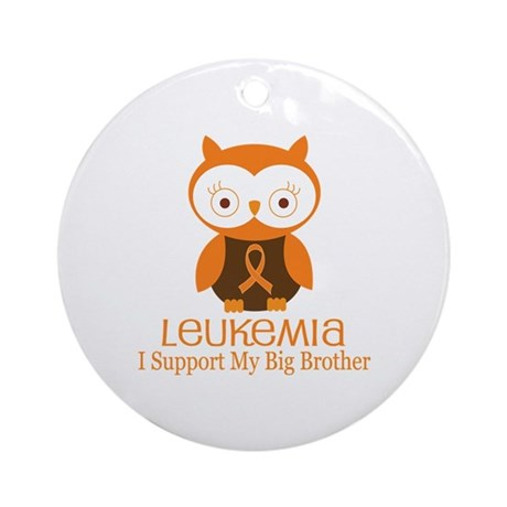 Big Brother Leukemia Support Ornament (Round)