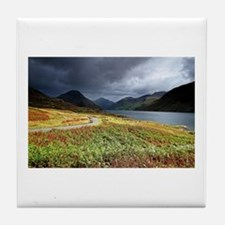 Wastwater storm clouds Tile Coaster