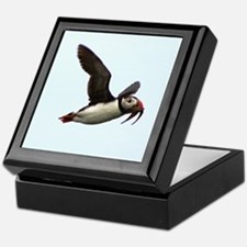 Flying Puffin Keepsake Box