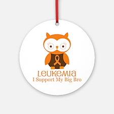 Big Bro Leukemia Support Ornament (Round)