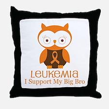 Big Bro Leukemia Support Throw Pillow