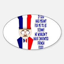Dark Blue French Chef Decal