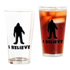I Believe in Sasquatch Drinking Glass