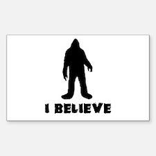 I Believe in Sasquatch Decal