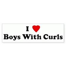 I Love Boys With Curls Bumper Bumper Sticker