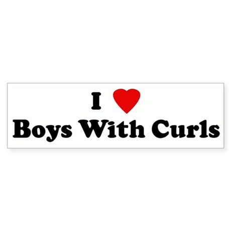 I Love Boys With Curls Bumper Sticker