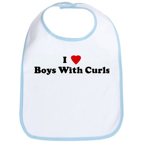 I Love Boys With Curls Bib