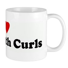 I Love Boys With Curls Mug