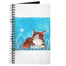 orange tabby cat eyes butterfly Journal