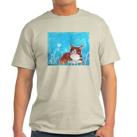 orange tabby cat eyes butterfly T-Shirt