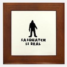 Sasquatch Is Real Framed Tile