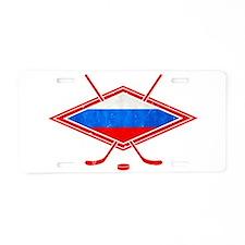 Russian Ice Hockey Flag Aluminum License Plate