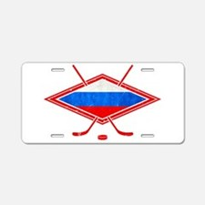 Russian Ice Hockey Flag Aluminum License Plate