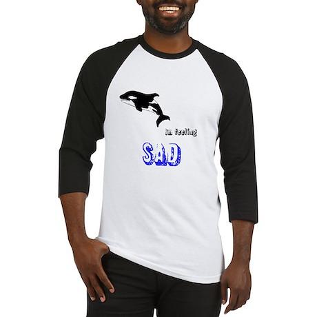 whale im feeling sad Baseball Jersey