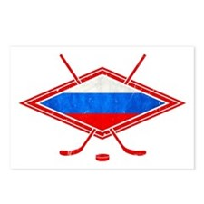 Russian Ice Hockey Flag Postcards (Package of 8)