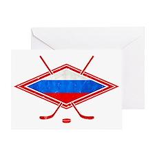 Russian Ice Hockey Flag Greeting Card