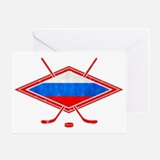 Russian Ice Hockey Flag Greeting Card