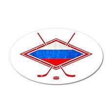 Russian Ice Hockey Flag Wall Decal