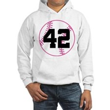 Softball Player Number 42 Hoodie
