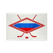 Russian Ice Hockey Flag Rectangle Magnet