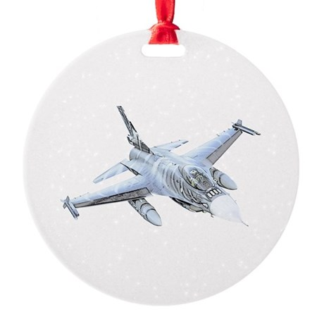 F-16 Falcon Round Ornament