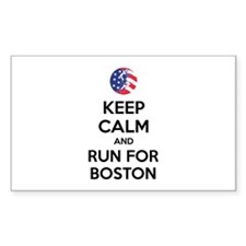 Keep calm and run for Boston Decal