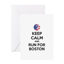 Keep calm and run for Boston Greeting Card