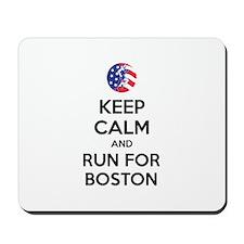 Keep calm and run for Boston Mousepad