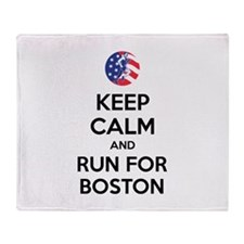 Keep calm and run for Boston Stadium Blanket