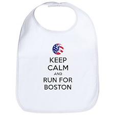 Keep calm and run for Boston Bib